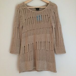 4/$15 NWT Willi Smith Sweater Beige Light Brown MD
